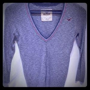 Heather gray Hollister sweater